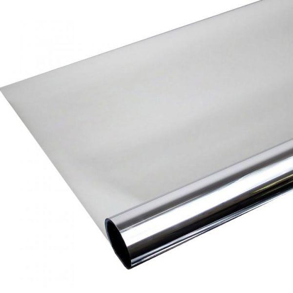 Spiegelfolie Silber Spion Sichtschutzfolie ALU 80 STATIC