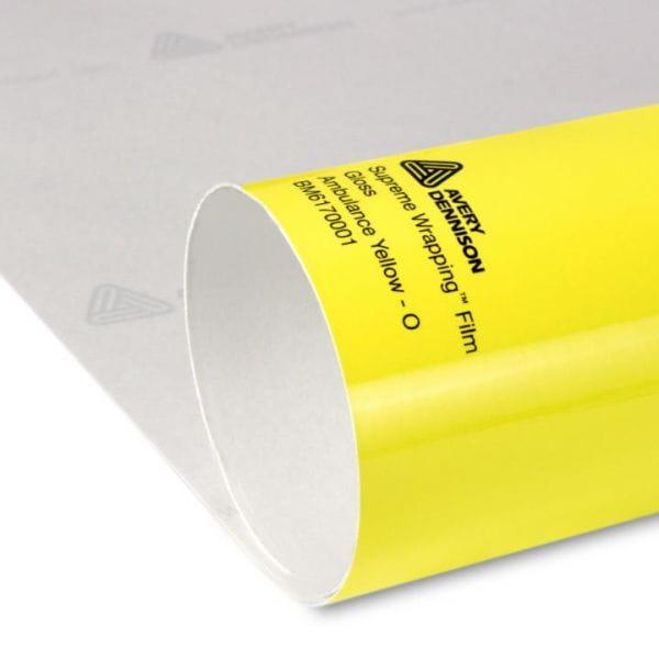 Avery Dennison® Supreme Wrapping Film Ambulance Yellow