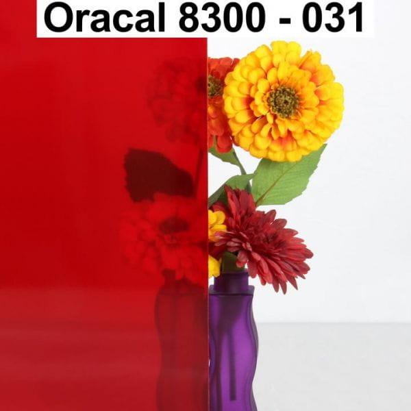 Oracal® 8300 Transparent Cal 031 Rot