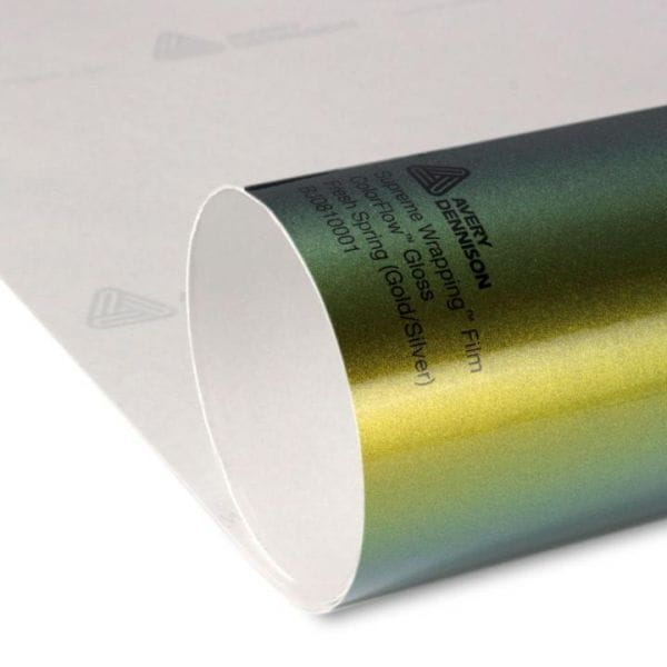 Avery Dennison® Supreme Wrapping Film ColorFlow Gloss Fresh Spring Gold/Silver
