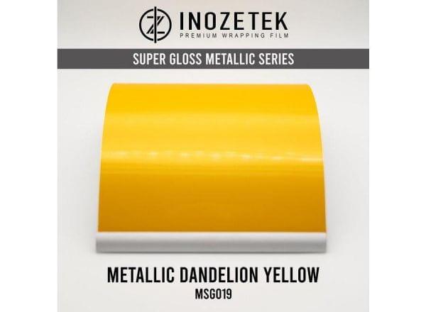 Inozetek Premium Wrapping Film Dandelion Yellow Metallic
